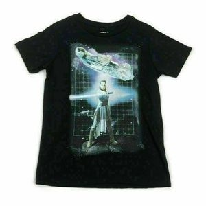 Star Wars T-Shirt Juniors Rey Lightsaber Large